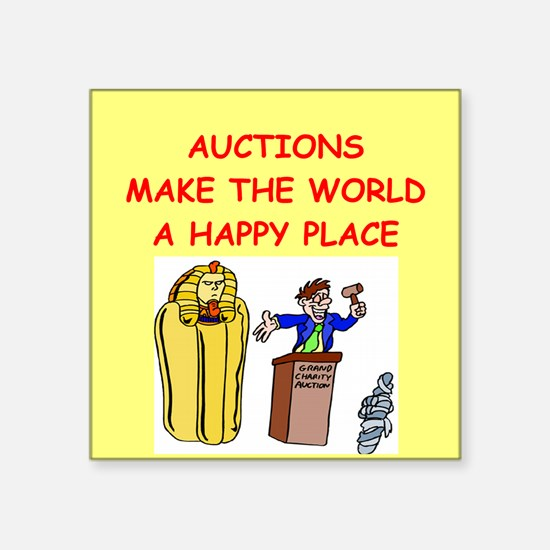 """AUCTIONS.png Square Sticker 3"""" x 3"""""""