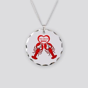 Friends Lobster Necklace Circle Charm