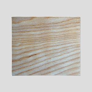 Chic Unique Wood Grain Designer Throw Blanket
