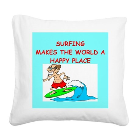 SURF.png Square Canvas Pillow