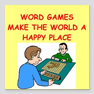 """WORD Square Car Magnet 3"""" x 3"""""""