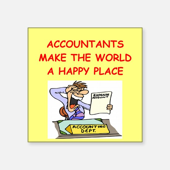 "ACCOUNTANTS.png Square Sticker 3"" x 3"""