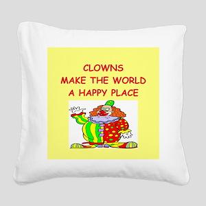 CLOWNS Square Canvas Pillow