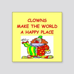 "CLOWNS Square Sticker 3"" x 3"""