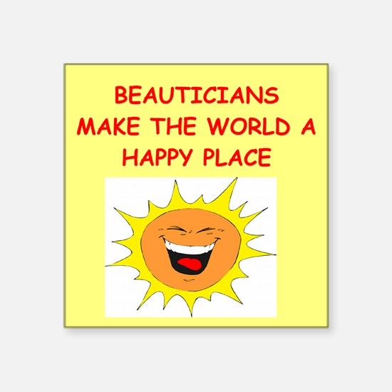 "BEAUTICIANS.png Square Sticker 3"" x 3"""