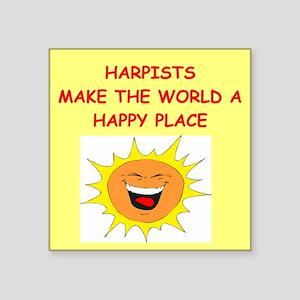"HARPISTS Square Sticker 3"" x 3"""
