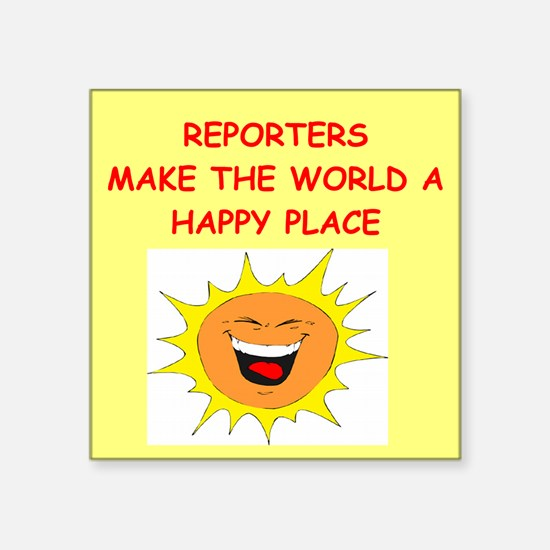 """REPORTERS.png Square Sticker 3"""" x 3"""""""
