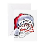 Obama Style Santa Greeting Card