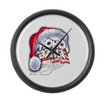 Obama Style Santa Large Wall Clock