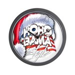 Obama Style Santa Wall Clock