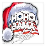 Obama Style Santa Square Car Magnet 3