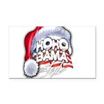 Obama Style Santa Rectangle Car Magnet