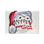 Obama Style Santa Rectangle Magnet