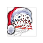 Obama Style Santa Square Sticker 3