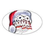 Obama Style Santa Sticker (Oval 10 pk)