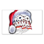 Obama Style Santa Sticker (Rectangle)