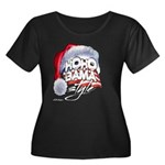 Obama Style Santa Women's Plus Size Scoop Neck Dar