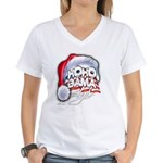 Obama Style Santa Women's V-Neck T-Shirt