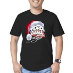 Obama Style Santa Men's Fitted T-Shirt (dark)