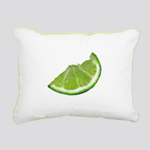 lime wedge Rectangular Canvas Pillow