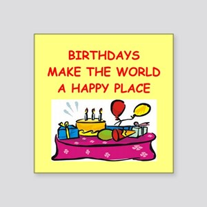 "BIRTHDAY Square Sticker 3"" x 3"""
