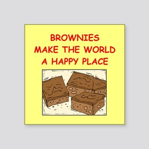 "BROWNIES Square Sticker 3"" x 3"""