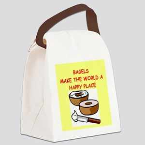 BAGELS Canvas Lunch Bag