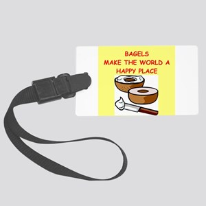 BAGELS Large Luggage Tag