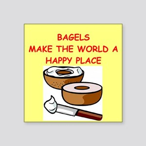 "BAGELS Square Sticker 3"" x 3"""