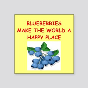 "BLUEBERRIES Square Sticker 3"" x 3"""