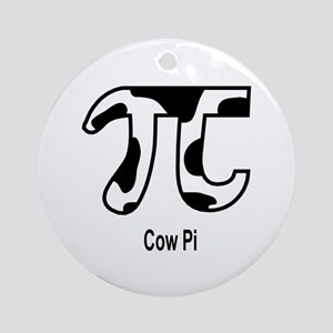 Cow Pi Ornament (Round)