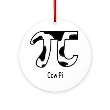 Cow Pi Ornament (Round)