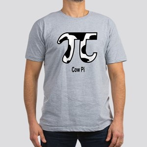 Cow Pi Men's Fitted T-Shirt (dark)