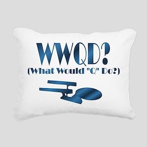 WWQDShirt Rectangular Canvas Pillow
