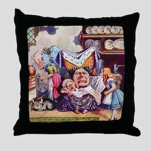 Alice In The Duchess' Kitchen Throw Pillow