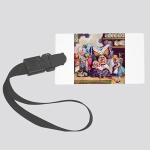 Alice In The Duchess' Kitchen Large Luggage Tag