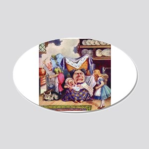 Alice In The Duchess' Kitchen 20x12 Oval Wall Deca