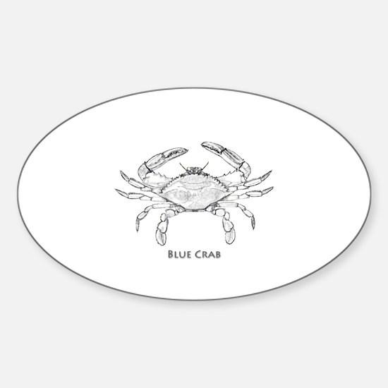 Blue Crab Logo Sticker (Oval)