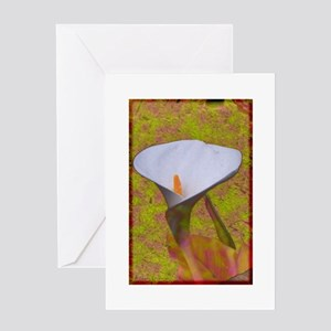 Calla Lily with Pastels Greeting Card