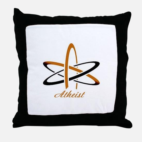 Copper Atheist Throw Pillow