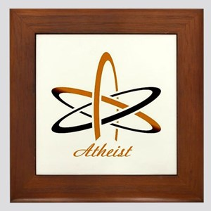 Copper Atheist Framed Tile