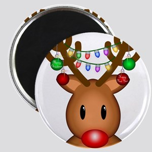 Reindeer with lights Magnet