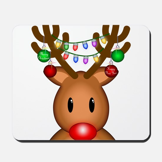 Reindeer with lights Mousepad