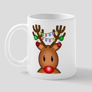 Reindeer with lights Mug