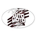 RACEMOTOSTYLE Sticker (Oval 10 pk)