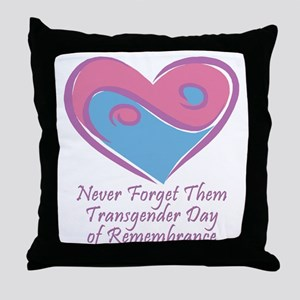 Transgender Day of Remembrance Throw Pillow