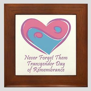 Transgender Day of Remembrance Framed Tile