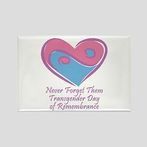 Transgender Day of Remembrance Rectangle Magnet