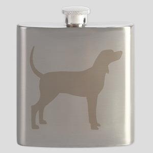 Coonhound Dog (#2) Flask