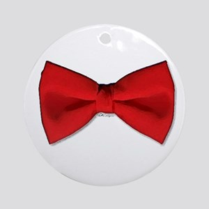 Bow Tie Red Ornament (Round)
